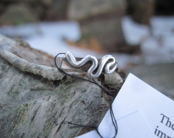Sale! Snake Ring Sterling Silver Handcrafted Size 6 1/2
