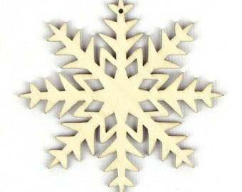 Starry Night - Laser Cut Wood Snowflake in Multiple Sizes and Quantity Discounts