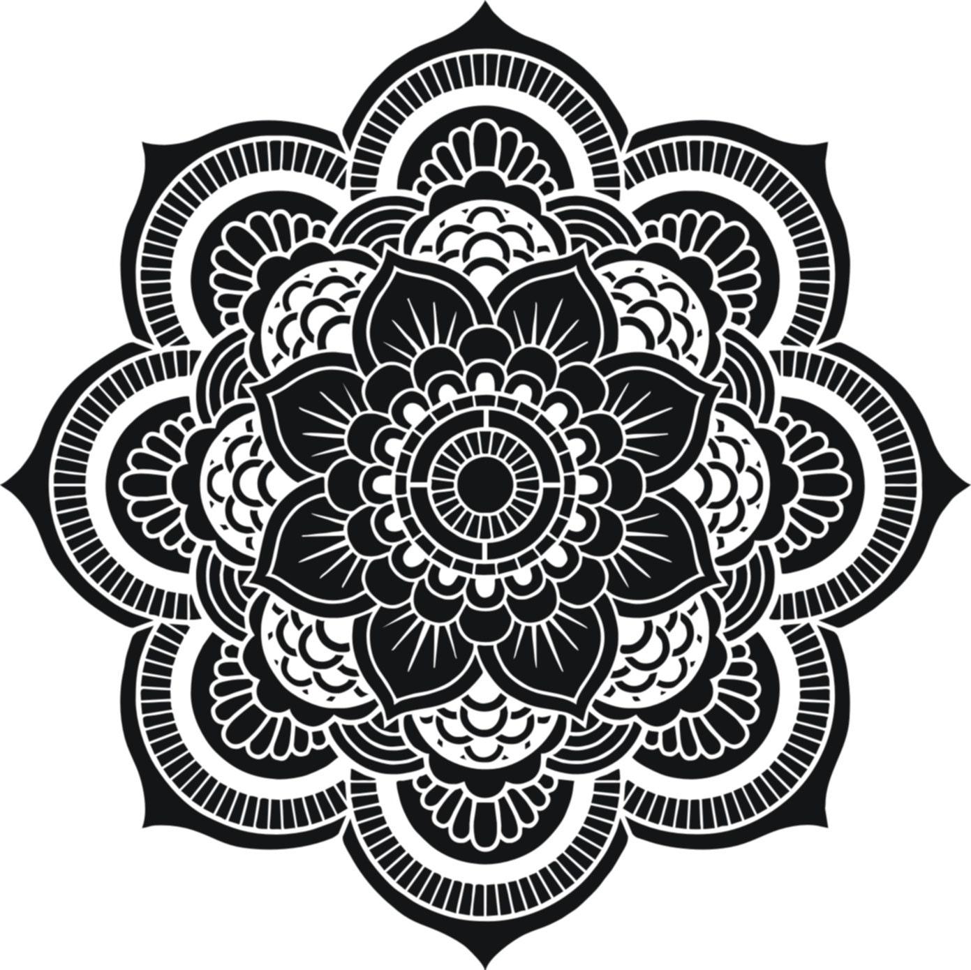 Gallery For gt Flower Of Life Mandala Black And White