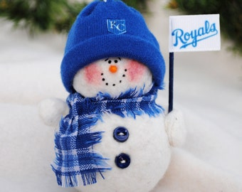 Kansas City Royals Snowman Ornament