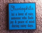 Wood Quote Panel - Lover of rain