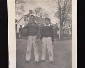 Original Antique Photograph Sailor Boys 1944