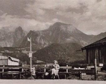 Original Antique Photograph A Breath of Fresh Mountain Air