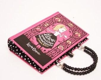 Alice in Wonderland Book Purse Handbag