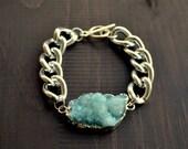 Light Blue Druzy Bracelet