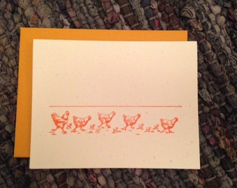 Greeting Card, Chickens