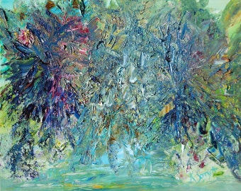 Monet Waterlife Impressions, Abstract Waterlife, Impressionism,Original Oil 16,20, Kathleen Leasure, FromGlenToGlen
