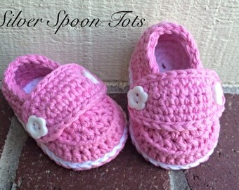 Baby Girl Booties, Baby Booties, Baby Loafers, Crochet Baby Loafers,newborn Booties,  Size 0-3 months