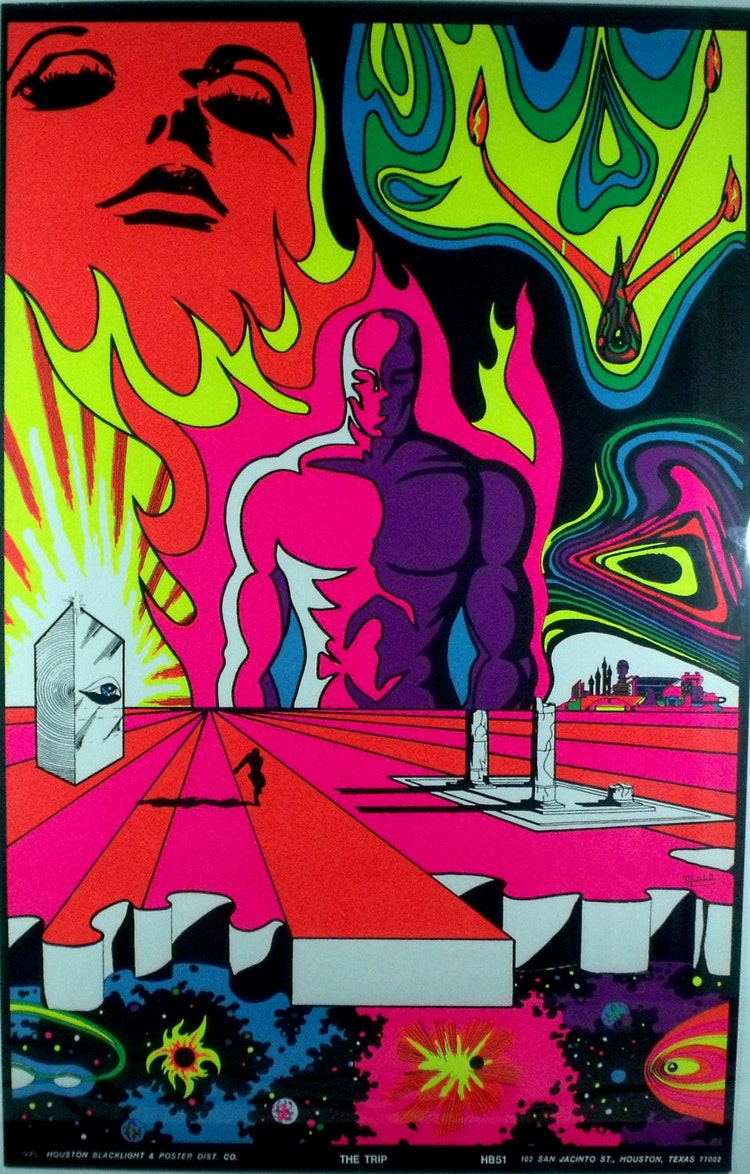 Vintage Blacklight Poster The Trip 1970 Original by ...