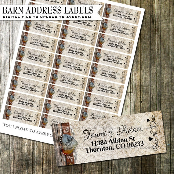 rustic vintage barn address labels diy avery by oddlotpaperie