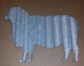 SHEEP Corrugated Metal Silhouette FREE SHIPPING