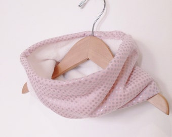 Little Girls Fleece lined Cowl / Scarf  / Fits 2T to 6 years