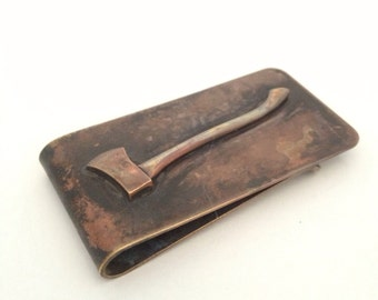 Brass Ax Money Clip