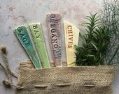 Ceramic Garden Marker Herb Mix Gift Bag (Ready to ship)