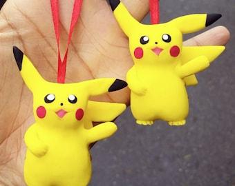 Polymer clay Pikachu figurine, Pikachu sculpture, pokemon, Pikachu ornament