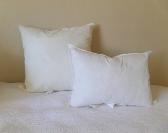 Down/Feather or Polyfil Pillow Inserts