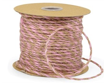Lavender Burlap Two Tone Jute Twine- 10 yds Lavender and Natural decorating crafting and treat wrapping