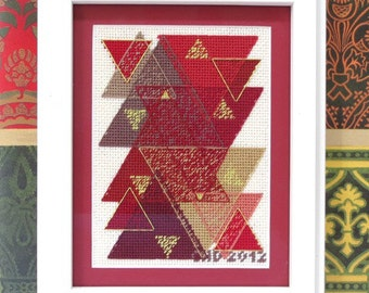 Geometric Triangles Needlepoint Kit