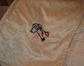 Plush Embroidered Throw Blanket