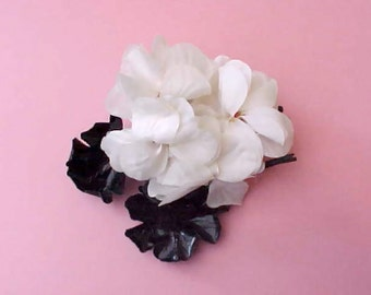 Pretty Vintage Black and White Millinery Flowers