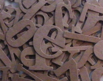 "81 Alphabets, Alphabet Letters, Wordplay Letters, Chipboard Letters, Die Cut Letter, A to Z,  1 to 1-1/2"" Tall"