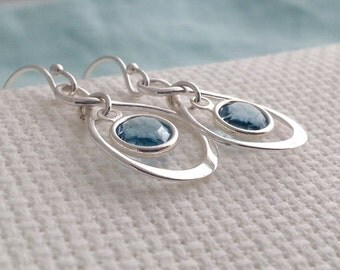 Birthstone Earrings. Personalized Earrings. Infinity Earrings. Sterling Infinity Earrings. Dangle Dangly Earrings. Birthday Gift