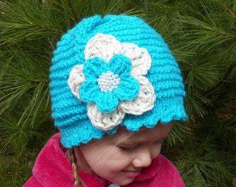 Baby girl handmade flower hat
