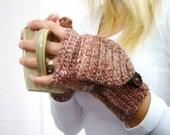 Copper Rose Mittens, Alpaca Mittens, Convertible Mittens, Fingerless Gloves, Crochet Mittens, Autumn Accessories, Fall Mittens, Fall Gloves
