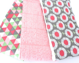 Pink Oversized Baby Burp Cloths in Pink Inspirational Quotes by JuteBaby
