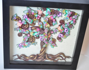60% OFF SALE! The Golden Tree  -  Wall Mounted, Tree of Life Series in Polymer Clay