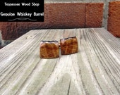 Dark Whiskey Barrel Wood Cuff Links