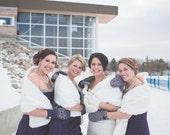 Special listing for Amanda 4 bridesmaids 1 bride shrug 1 jr