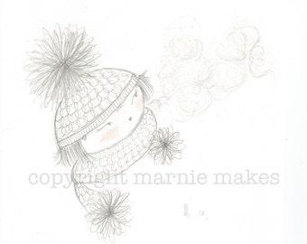 Rosy Cheeks - giclee print