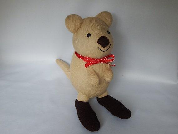 Quokka plush toy plushie stuffed animal sock monkey