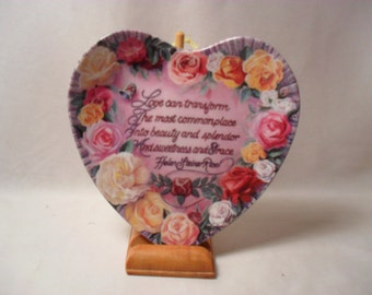 Beauty and Splendor by Renee McGinnis from Loving Hearts Collection Plate