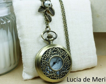 Victorian Pocket Watch necklace -Black friday , Cyber monday  -Coupon code.-Personalized - Custom colors