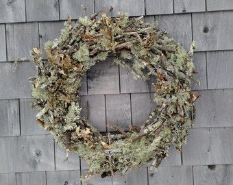 Large Moss And Twig Wreath  -Made in Maine