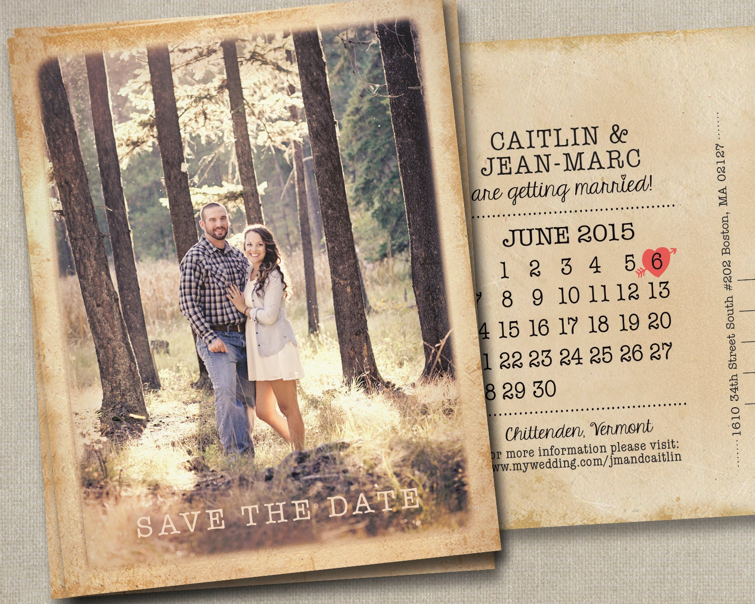 Wedding Save The Date Postcards: Wedding Save The Date Dates Photo Magnets Postcards Cards