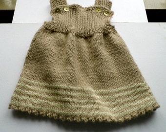 Baby dress, baby, dress, tunic, tunic, trousers, knit, alpaca wool, organic