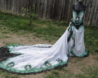 Popular items for painted sugar skull on etsy for Sugar skull wedding dress