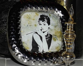 Cinematic Grace Hand Painted Glass Art