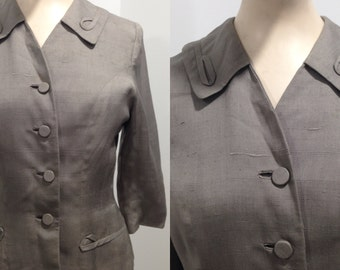 Tailored 1940s Slate Grey Blazer