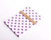 SALE 20 Purple Polka Dot Bitty Bags 5 x 7.5