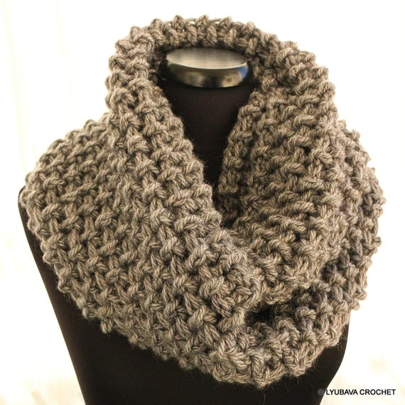 Crochet Scarf Pattern Circle Scarf Chunky Scarf By