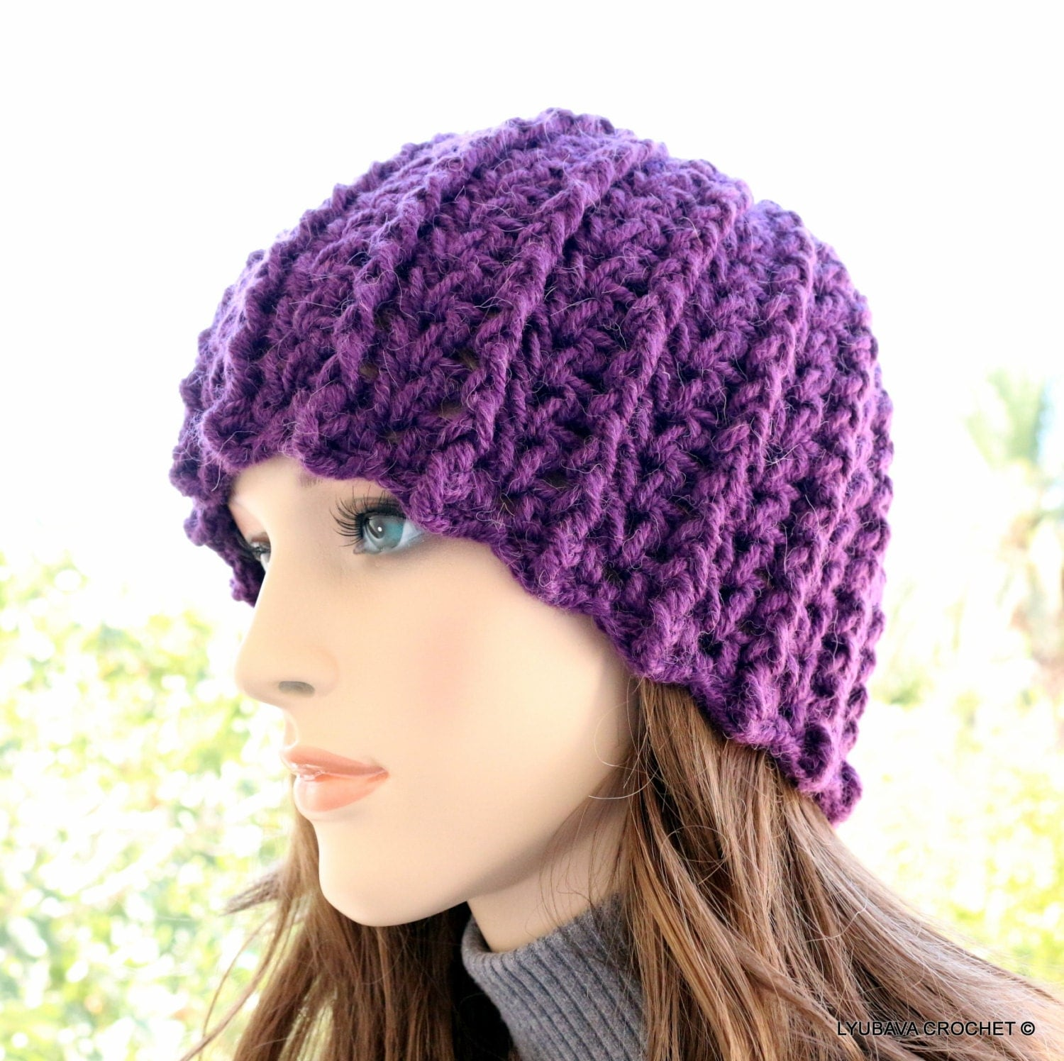 CROCHET HAT PATTERN Womens Crochet Winter Hat by ...