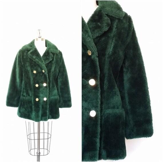 Images of Green Faux Fur Coat - Reikian