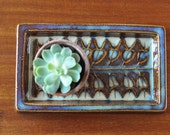 SALE Soholm Denmark Stentoj - Small Brown And Blue Tray - Einar Johansen