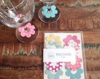 CLEARANCE! Paper Wine Charms