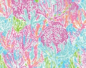 Lilly Pulitzer fabric Lets Cha Cha 9 X 18 or 18 X 18