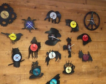 Wholesale Clocks | Vinyl Record • Upcycled Recycled Repurposed • Handmade • Home Decor • Unique Gifts • Sillhouette